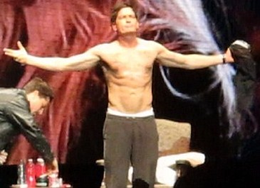 charlie sheen topless shirtless naked fucking